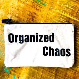 "🌺4 Items 25$🌺 Pencil Pouch ""Organized Chaos"" NWT"